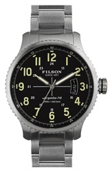 Filson 'The Mackinaw Field' Bracelet Watch 43Mm Silver Black