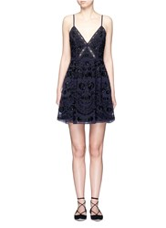 Needle And Thread 'Embroidery Motif Prom' Sequin Floral Embellished Dress Blue