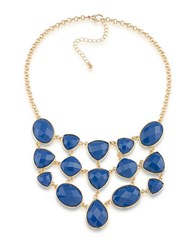 1St And Gorgeous Multi Shape Studded Bib Necklace Blue
