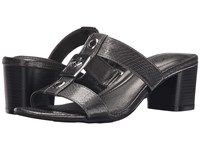 Lifestride Rayana Pewter Snake Patent Women's Sandals Black