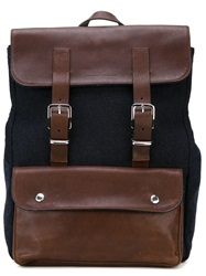 Brunello Cucinelli Buckle Fastening Backpack Blue