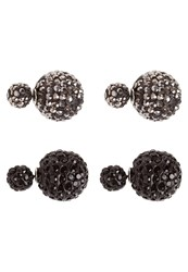 Sweet Deluxe Coco 2 Pack Earrings Schwarz Hematite Black