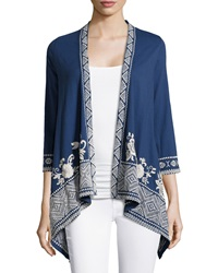Jwla Embroidered Asymmetric Cardigan Night Watch