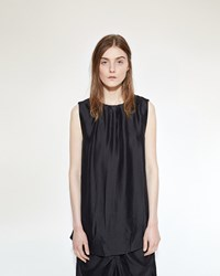 Marni Gathered Satin Tank Black