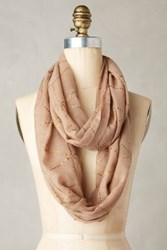 Anthropologie Carolane Loop Scarf Bronze