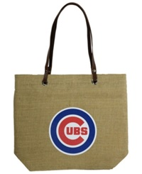 Little Earth Chicago Cubs Burlap Tote Brown
