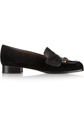 Tomas Maier Nabuk Embellished Suede And Leather Loafers