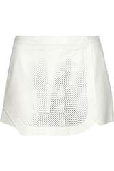 Jonathan Simkhai Laser Cut Leather Shorts White