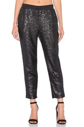 Splendid Sequin Embellished Sweatpant Black