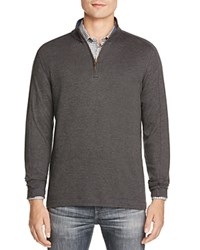 Robert Graham Quarter Zip Pullover Heather Dk Charcoal
