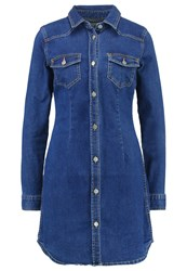 Evenandodd Denim Dress Blue Denim Stone Blue Denim