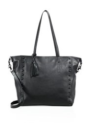 Loeffler Randall Studded Leather Tote Black
