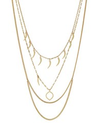 Vince Camuto Goldtone Horn Pendant Layered Necklace