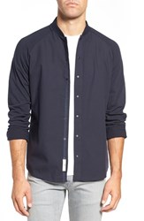 W.R.K Men's Mixed Media Raglan Sleeve Shirt Navy