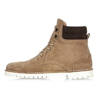 River Island Mens Beige Suede Boots