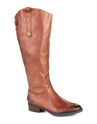 Sam Edelman Penny Wide Calf Leather Boots Brown