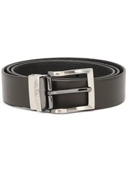 Armani Jeans Square Buckle Belt Brown