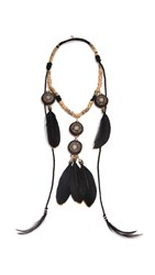 Deepa Gurnani Ester Necklace Gold Black