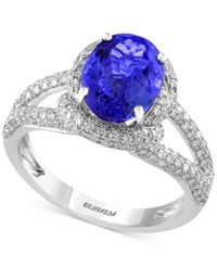 Effy Final Call Tanzanite 2 5 8 Ct. T.W. And Diamond 3 4 Ct. T.W. Ring In 14K White Gold