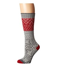 Smartwool Snowflake Flurry Medium Gray Women's Knee High Socks Shoes White