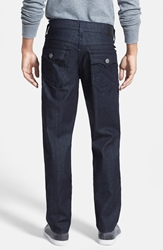True Religion 'Geno Flap Core' Straight Leg Jeans Midnight