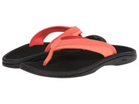 Olukai Ohana W Coral Black Women's Sandals Red