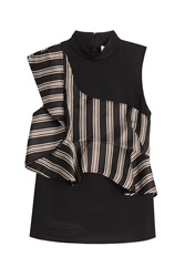 3.1 Phillip Lim Silk Sleeveless Blouse With Ruffles Multicolor