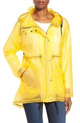 Hunter Women's 'Original Smock' Hooded Drawstring Waterproof Jacket Yellow