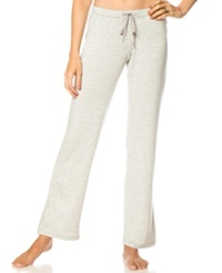 A Pea In The Pod Maternity Striped Pajama Pants Heather Grey White