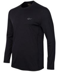 Greg Norman For Tasso Elba Long Sleeve Performance Shirt Only At Macy's Deep Black