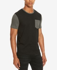Kenneth Cole Reaction Men's Colorblocked Pocket T Shirt Black