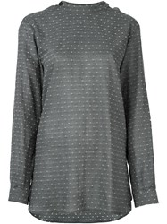 Heikki Salonen Army Shirt With Split Back Grey