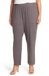Plus Size Women's Eileen Fisher Organic Linen Knit Tapered Ankle Pants