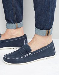 Kg By Kurt Geiger Loafers In Navy Suede Navy Blue