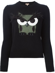 P.A.R.O.S.H. Embellished Owl Sweater Black