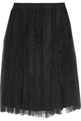 Brunello Cucinelli Cotton Tulle Skirt Charcoal