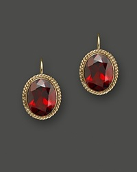 Bloomingdale's 14K Yellow Gold Bezel Set Large Drop Earrings With Garnet Red Gold