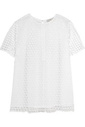 Tory Burch Crescent Crocheted Cotton Top White