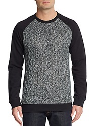 Buffalo David Bitton Wilford Blocked Raglan Sweater Black