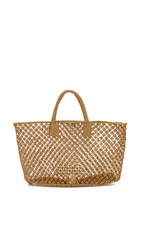 Hat Attack Macrame Tote Toast
