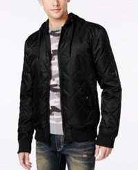 American Rag Men's Quilted Hooded Bomber Jacket Only At Macy's Deep Black