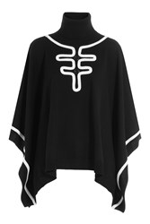 Boutique Moschino Virgin Wool Poncho Black