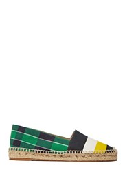 Stella Mccartney Striped Espadrilles Green