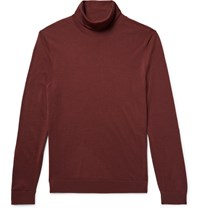 Cos Wool Rollneck Sweater Claret