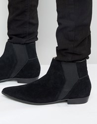 Religion Suede Chelsea Boots Black