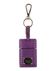 Dsquared2 Small Leather Goods Key Rings Women Purple