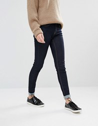 Oasis Skinny Jeans With Turn Up Hem Rinse Wash Navy