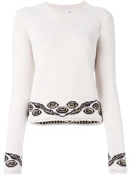 Eggs Intarsia Knit Sweater Nude And Neutrals