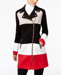Inc International Concepts Colorblocked Moto Jacket Only At Macy's Real Red