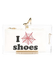 Charlotte Olympia 'Pandora Loves Shoes' Clutch White